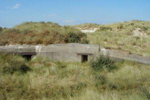 Blockhaus dans les dunes.