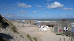 Les blockhaus de la plage.
