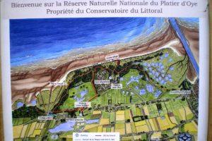 Panneau plan de la réserve.