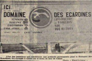 Publicité dans la Voix du Nord, 6 août 1967.