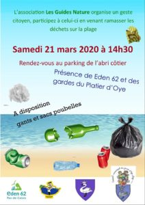 Affiche Guides nature opération nettoyage de printemps.